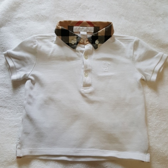 4e9eee89fcb8 Burberry Other - Baby Burberry boys white William Polo shirt